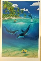 Dreaming of Paradise Colaboration With Dan Mackin 2000 Limited Edition Print by Robert Wyland - 1
