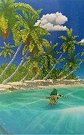 Dreaming of Paradise Colaboration With Dan Mackin 2000 Limited Edition Print by Robert Wyland - 4