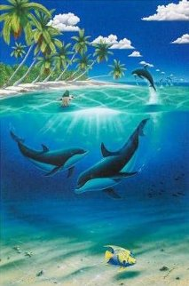 Dreaming of Paradise Colaboration With Dan Mackin 2000 Limited Edition Print - Robert Wyland