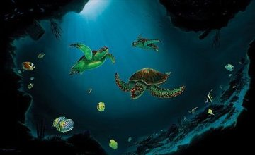 Sea Turtle Realm  Limited Edition Print - Robert Wyland