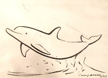 Dolphin 2013 18x21 Works on Paper (not prints) - Robert Wyland
