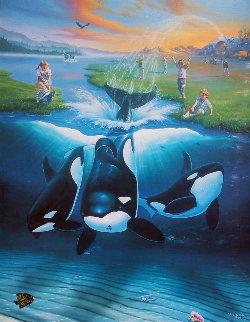 Keikos Dream 1996 Limited Edition Print by Robert Wyland