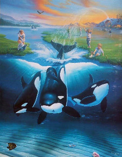 Keikos Dream 1996 Limited Edition Print - Robert Wyland