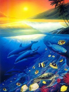 Pacific Paradise 1994 Limited Edition Print by Robert Wyland