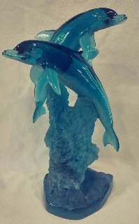 Oceans Friends Acrylic  Sculpture 1995 14 in Sculpture by Robert Wyland