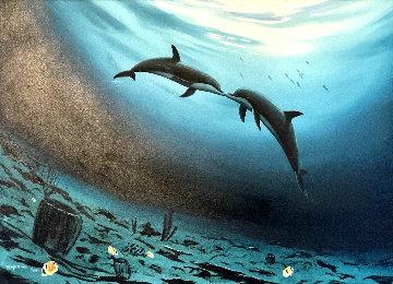 Love in the Sea 2004 35x47 Original Painting - Robert Wyland