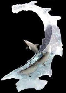 Dolphin Sea Acrylic Sculpture 2006 22 in Sculpture - Robert Wyland