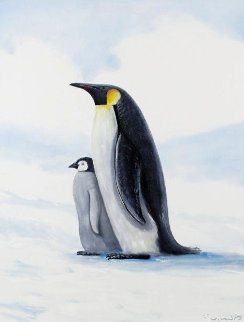 Antarctic Penguins Limited Edition Print by Robert Wyland