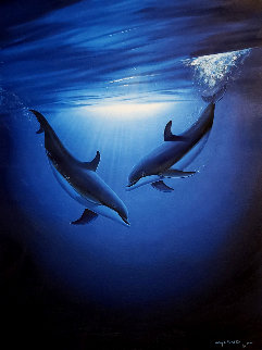 Blue Sea Vision 2000 21x17 Original Painting - Robert Wyland