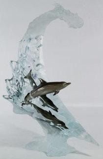 Dolphin Sea Acrylic Sculpture 2007 22 in Sculpture - Robert Wyland