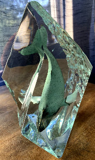 Deep Sounding Lucite Sculpture AP 1998 10 in Sculpture - Robert Wyland