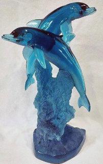 Ocean Friend Acrylic Sculpture AP 1995 14 in Sculpture by Robert Wyland