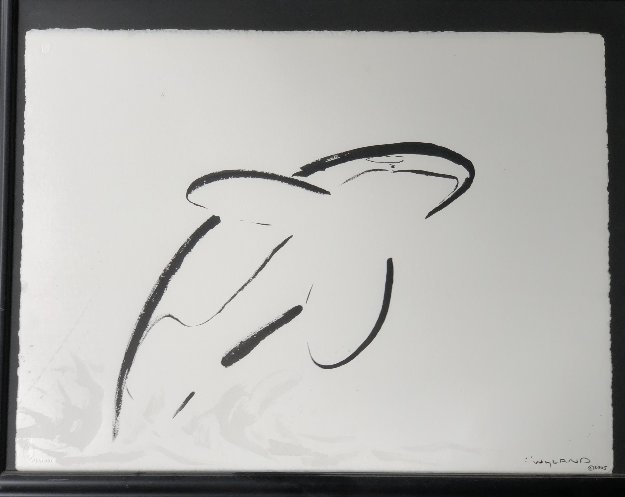 Orca Breaching 2005 28x35 Works on Paper (not prints) by Robert Wyland