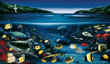 Hanauma Bay 1999 Limited Edition Print - Robert Wyland