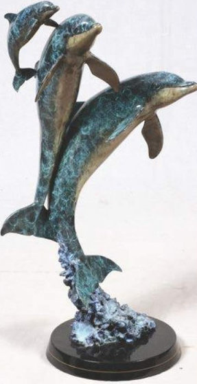Synchronicity Maquette Bronze Sculpture 1993 31 in by Robert Wyland