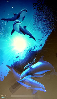 Underwater AP 1994 Limited Edition Print - Robert Wyland
