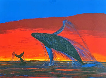 Whale Watching 2004 Limited Edition Print - Robert Wyland