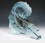 Surfriders Acrylic Sculpture 2005 13 in Sculpture - Robert Wyland