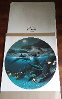 Dolphin Moon 1992 Limited Edition Print by Robert Wyland - 1