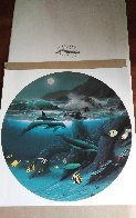 Dolphin Moon 1992 Limited Edition Print by Robert Wyland - 2