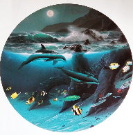 Dolphin Moon 1992 Limited Edition Print by Robert Wyland - 0