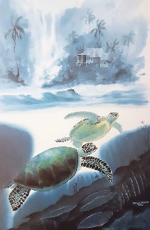Turtle Waters 1992 Limited Edition Print - Robert Wyland