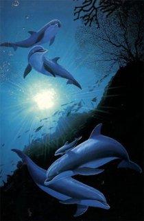 Under Water 1994 38x26 Huge  Limited Edition Print - Robert Wyland