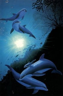 Under Water 1994 38x26 Super Huge  Limited Edition Print - Robert Wyland