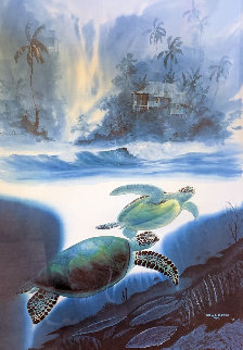 Turtle Waters 1993 Limited Edition Print by Robert Wyland