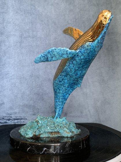 Humpback Breaching Bronze Sculpture 1991  9 in Sculpture by Robert Wyland