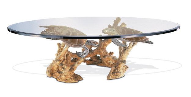 Turtle Reef Bronze Table 2014 36 in by Robert Wyland