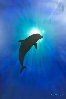 Dolphin Day 2002 34x46 Super Huge Original Painting - Robert Wyland