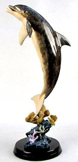 Dolphins Dream Bronze Sculpture 1999 34 in Sculpture - Robert Wyland