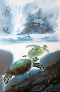 Turtle Waters and Dolphin Waters, Suite of 2 Lithographs 1992 Limited Edition Print - Robert Wyland