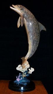 Dolphin Dream Bronze Sculpture AP 1999 32 in Sculpture - Robert Wyland