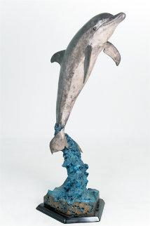 Dolphin Friendly  Bronze Sculpture AP 2007 11 in Sculpture - Robert Wyland