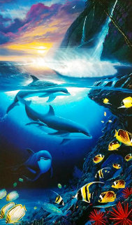 Dolphin Dawn 2000 Limited Edition Print - Robert Wyland