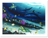 Radiant Reef  Diptych 2001 70x52 Super Huge Limited Edition Print by Robert Wyland - 2