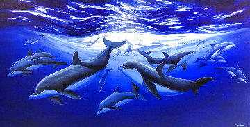 Sea of Tranquility AP 2011 Embellished Limited Edition Print - Robert Wyland