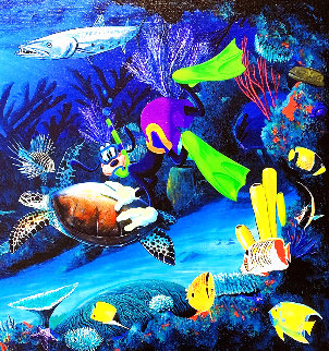 Goofy Diver 2004 Limited Edition Print - Robert Wyland