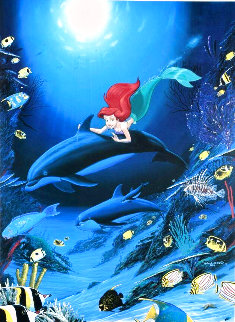 Ariel's Dolphin Ride 1994 Limited Edition Print - Robert Wyland
