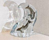 Making Waves Lucite Sculpture 1998 9 in Sculpture by Robert Wyland - 2