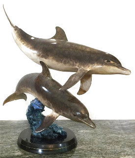 Ocean Travelers Bronze Sculpture 31 in Sculpture - Robert Wyland