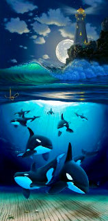 Guiding Light PP 2000 Limited Edition Print - Robert Wyland