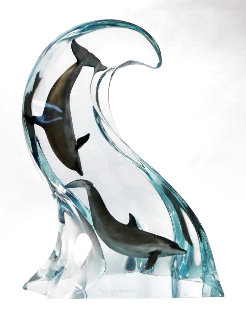 Making Big Waves Acrylic Sculpture 2000 23 in Sculpture - Robert Wyland
