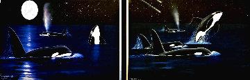 Shooting Stars (Diptych) 2007 36x80 Huge Limited Edition Print - Robert Wyland