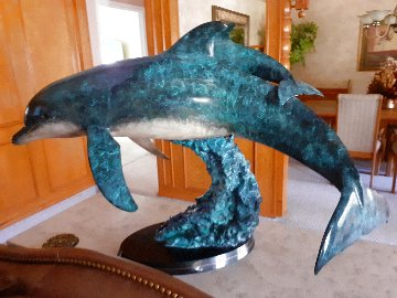 Ocean Born Bronze Sculpture 1992 56 in Sculpture - Robert Wyland