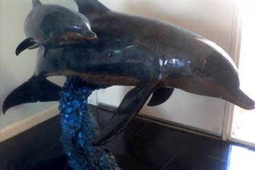 Ocean Born Bronze Sculpture 1992 56 in Sculpture - Robert Wyland