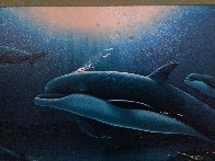 In the Company of Dolphins AP 2002 Embellished Limited Edition Print by Robert Wyland - 4