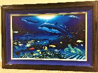 In the Company of Dolphins AP 2002 Embellished Limited Edition Print by Robert Wyland - 2